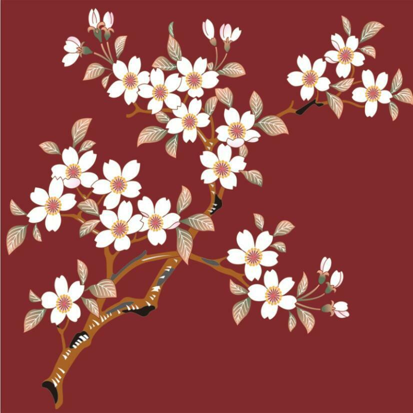 3D Pretty Flowers Branch 892 Paper Wall Print Wall Decal Wall Deco Indoor Murals