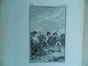 XVIII Antigua Grabado Jean-Jacques L 'em Isla Moreau Lorieux