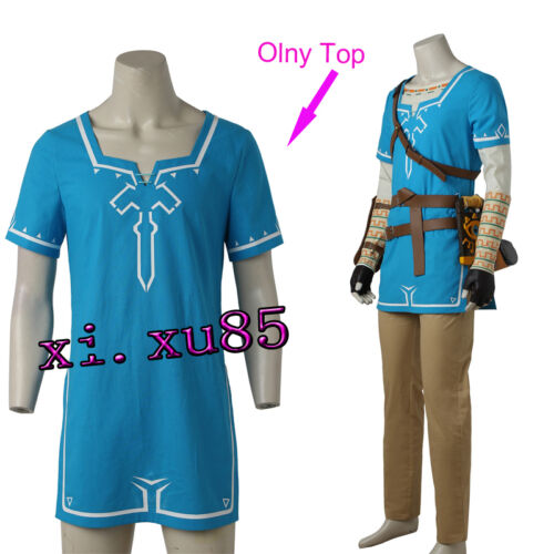 Game The Legend of Zelda Breath of the Wild Link Cosplay Costume Only Top Shirt