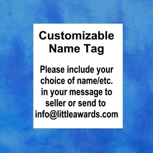Baby Footprints BW Custom Name Tag Badge ID Pin Magnet for Nurse Daycare Midwife