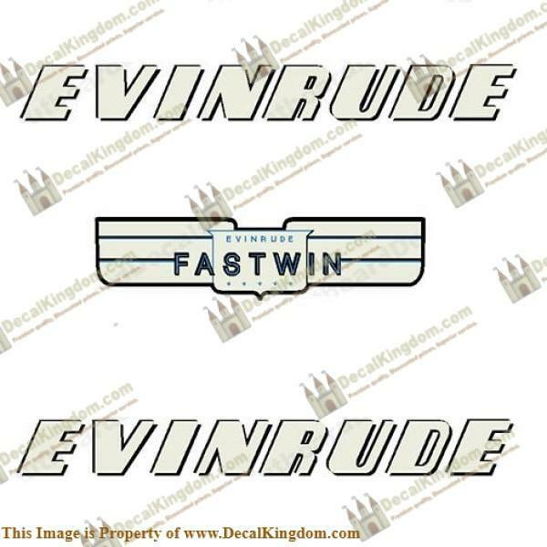 Evinrude 1952 15hp Fastwin Outboard Decal Kit 3M Marine Grade