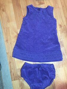36e05c723c0ac2 The Children s Place Girls Sz. 18 Month Sparkly Purple Ruffle ...