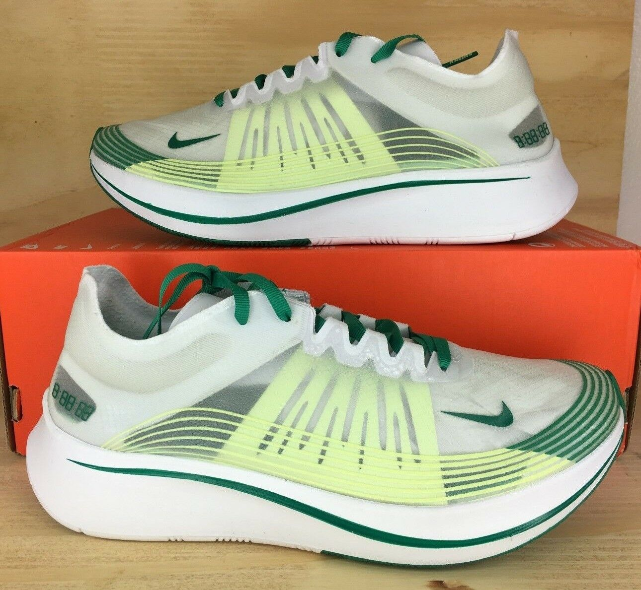 Nike Zoom Fly SP Mens Running Shoes Lucid Green Summit White AJ9282-101 Size 7.5