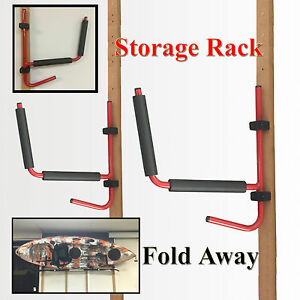 Image is loading Kayak-Rack-Canoe-Carrier-Wall-Bracket-Paddle-Holder- & Kayak Rack Canoe Carrier Wall Bracket Paddle Holder Garage Surfboard ...