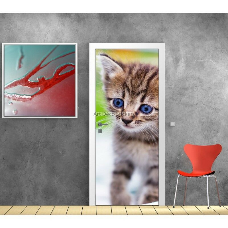 Aufkleber Tür Deko Katze Ref 588 588