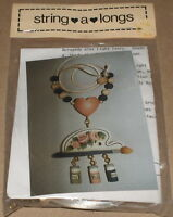 Tolehaven String-a-long Floral Tole Painting Pack W/ Wood Shapes Kit Nip