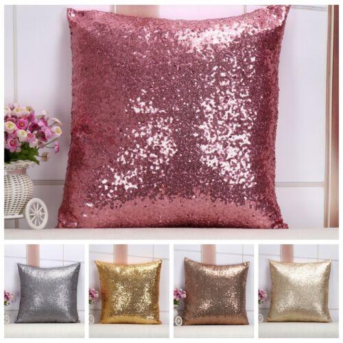 Glitter Sequins Throw Pillow Case Covers Home Bed Sofa Waist Cushion Case Decor