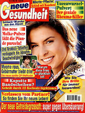 """Zeitschrift """"Die neue Gesundheit"""" Nr. 3 v 1998, Yuccawurzel; Molke; Bandscheiben"""