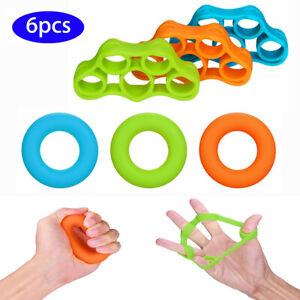 6Pcs Finger Stretcher Exerciser Grip Hand Strengtheners Extensor Trainer Forearm