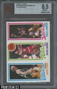1980-81 Topps Basketball Larry Bird Magic Johnson RC Julius Erving HOF BVG 8.5