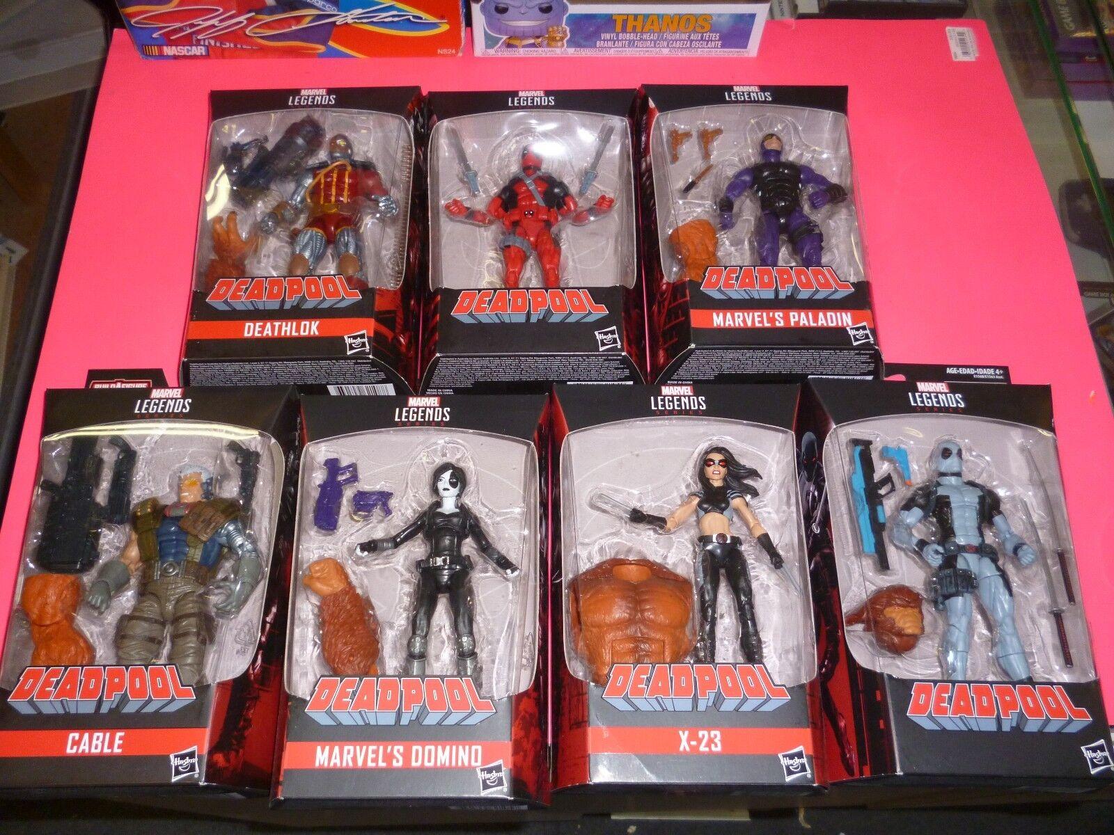 Marvel Marvel Marvel Legends DEADPOOL Wave BAF SASQUATCH Set of 7 6 Figures CABLE Domino X23 ea04c1