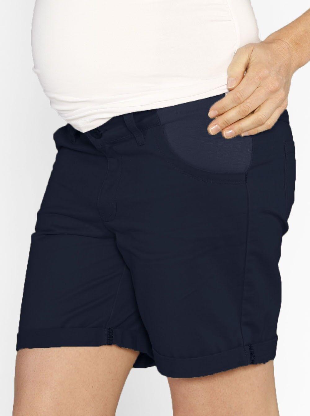 Casual Summer Cotton Shorts - Navy