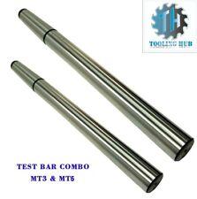 Lathe Mandrel Alignment Precision Test Bar Shank Sizes Mt3 Mt5 Combo En31