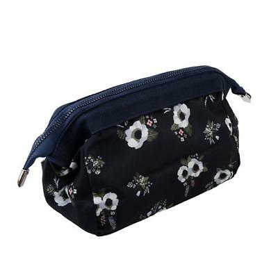 Vintage Flower Floral Pencil Pen Case Bag Cosmetic Makeup Storage Bag Purse LG