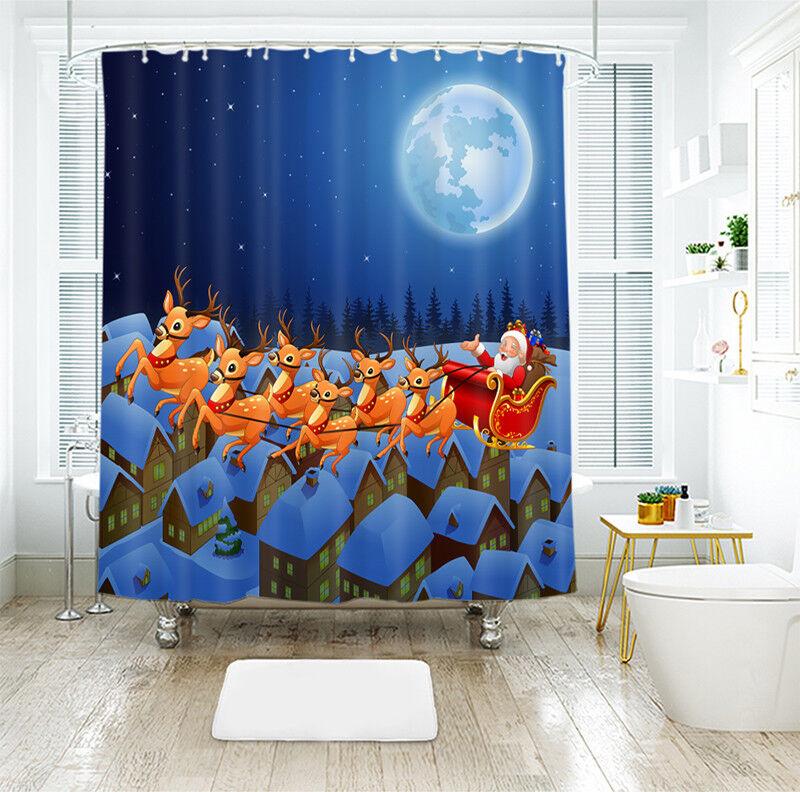 3D Weihnachten Xmas 081 Duschvorhang Wasserdicht Faser Bad Daheim Windows DE | Niedriger Preis und gute Qualität