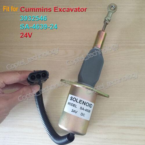 3932546 24V Fuelshut off Stop Solenoid Valve Fit for Cummins SA-4639-24 24V