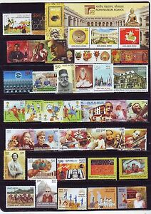 India-Unmounted-2014-Mint-Stamps-Year-Set-of-36-Stamps