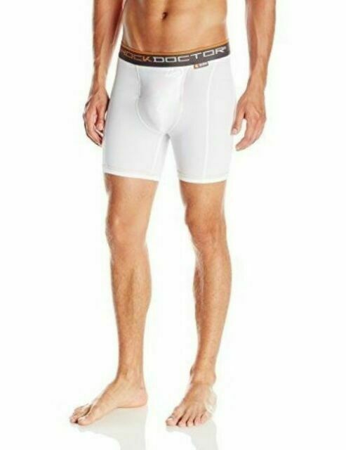 Shock Doctor Mens Ultra Pro Boxer Compression Shorts with Ultra Cup