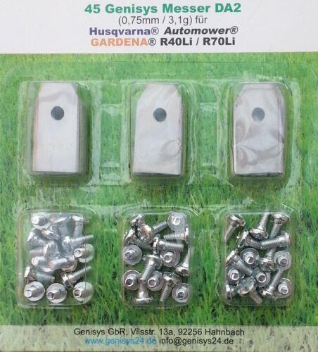 Genisys® Automower Klingen 30+3 St 0,75mm//3,1g Husqvarna® Gardena® R70Li