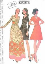 Vintage Women's Caftan Dress & A Line Dress Sewing Pattern