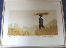 Lars Norrman 1915-1979, Afrikanische Impressionen 3, Schüler von F. Léger, Litho