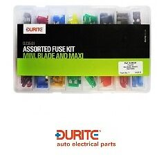 Blade and Maxi Fuse Kit Durite 0-235-01 Assorted Box Of  Mini