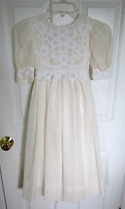 Posies-Wedding-Dress-Communion-Easter-Tulle-Flower-Girl-Party-Lace-Junior-Bride