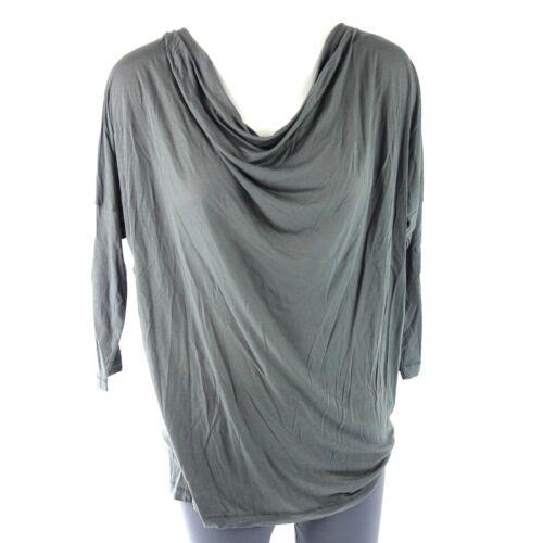 DRYKORN Damen Shirt BIBIA 34 36 40 XS S L Grau Wasserfallausschnitt NP 70 NEU