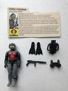 GI-Joe-1985-Eels-v1-Cobra-Frogman-Hasbro-Action-Figure-Near-Complete-with-FC