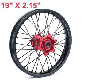 Rear 19 x 2.15 Black Rim//Silver Spoke//Red Hub for Honda CRF450R 2002-2012 Impact Complete Wheel
