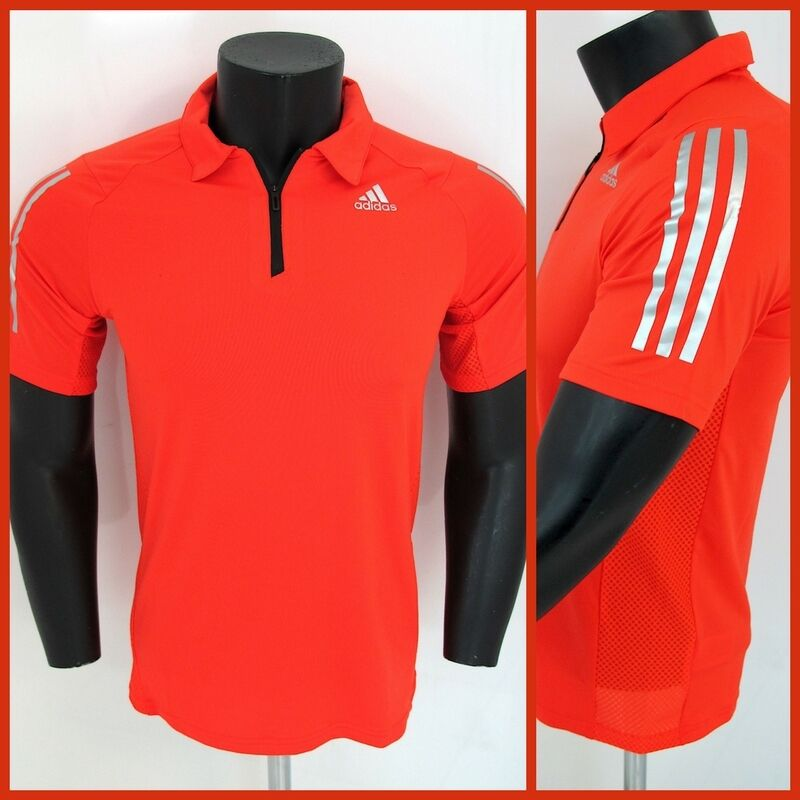 ADIDAS polo men m short COOL365 S18256 colour orange summer 2016