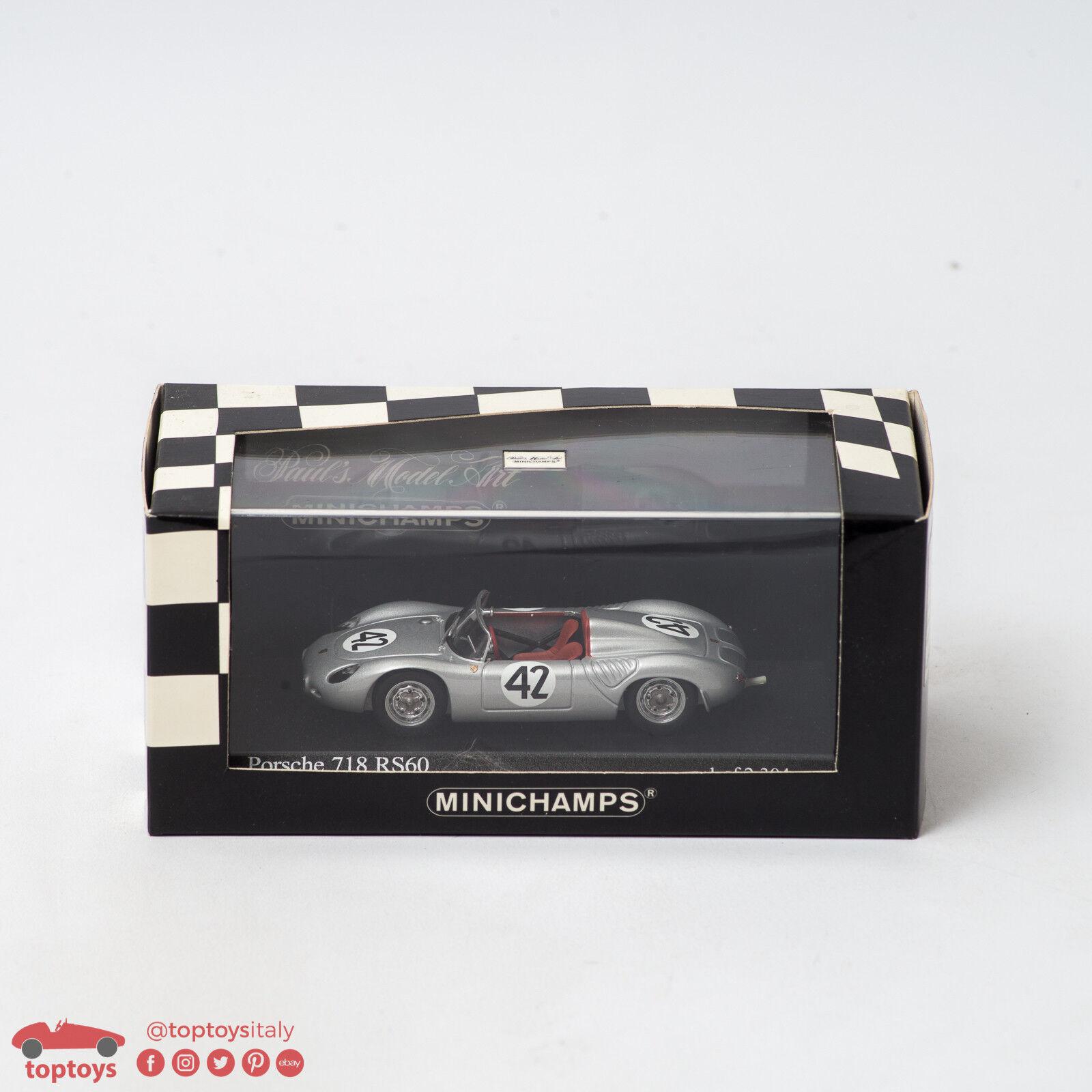 la mejor oferta de tienda online PAUL'S MODEL ART MINICHAMPS Porsche 718 718 718 RS60 Sebring 12h 1960 Hermann 1 43 MIB  Venta al por mayor barato y de alta calidad.