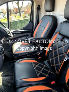 Eco-Leather+Alicante Seat Covers 2+1 FORD TRANSIT CUSTOM Double Cab 2018 2019