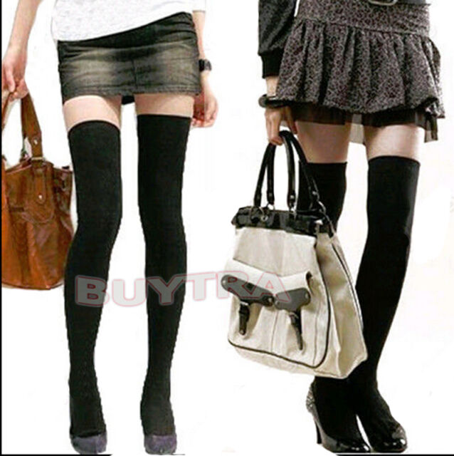 Women Vogue Over The Knee Cotton Socks Thigh High Soft Cotton Stockings CAEF