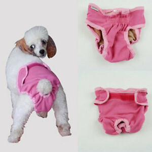 Female-Pet-Dog-Puppy-Physiological-Sanitary-Short-Underwear-Diaper-Pink-S