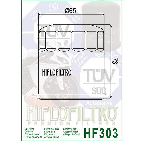 Transalp VFR750//800 Honda CBR600//900 Deauville HF303 Hiflofiltro Oil Filter