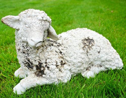 Sheep Garden Statue Patio Feature Outdoor Farm Animal Figure Lawn Sculpture New