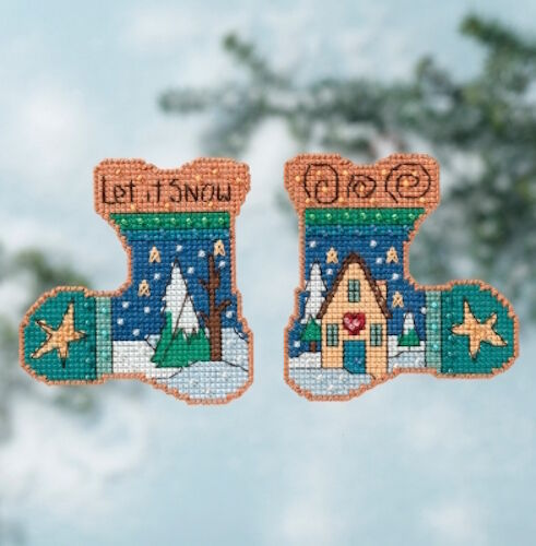 Let it Snow 10/% Off Mill Hill Sticks Counted X-stitch//Beading Kit