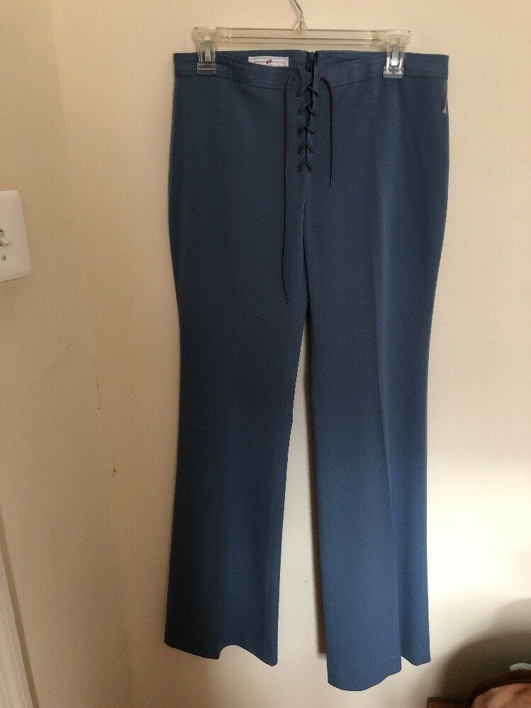 New Grünigo Lace Up Light Blau Pants .Größe 42 10.Made In France.