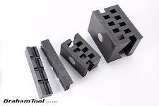 Bench And Milling Machine Vise V Blocks Set Of 3 Used On Wilton And Kurt Vises