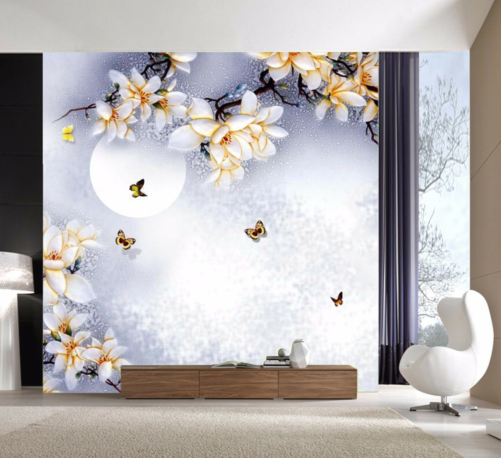 3D Moonlight peach 2515 Wall Paper Wall Print Decal Wall Indoor Murals Wall US