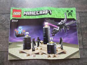 Lego 21117 Minecraft The Ender Dragon Instructions Manual Booklet Only No Bricks Ebay