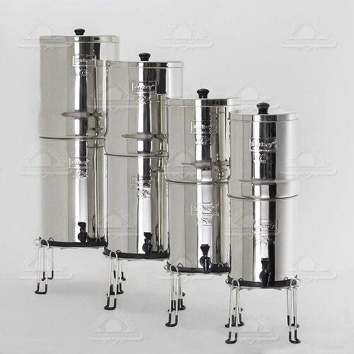Crown Berkey Inoxydable Purificateur d'eau 6 noir 6 PF2 Filtres Robinet Stand Base