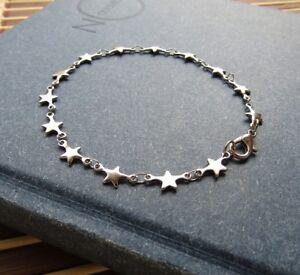 Delizioso-bracciale-da-donna-a-stelline-colore-argento-Acciaio-316L