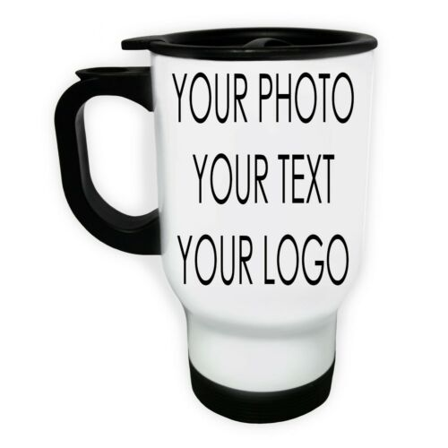 CUSTOM THERMAL FUNNY TRAVEL MUG PERSONALISED FLASK PHOTO COFFEE IMAGE PICTURE