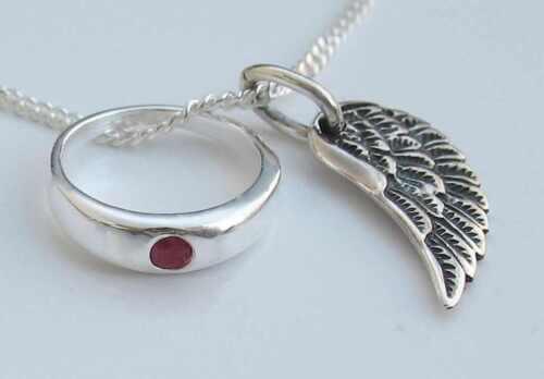 Taufring Schutzengel Echt Silber 925 mit Kette Taufkette Engel Paten Geschenk