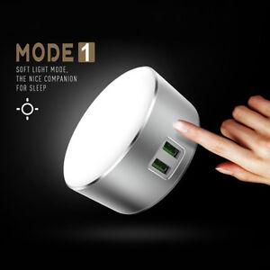 2-USB-chargeur-LED-Touch-Light-lampe-chevet-Bureau-AC-Table-maison-doux