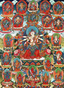25-034-Tibet-Buddhist-Thangka-Painting-Great-Terton-Mingyur-Dorje-Of-21-Dzambala