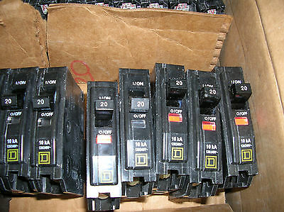 10 Pack Homeline Square D HOM115 15 Amp 1 Pole Circuit Breaker 120//240 VAC