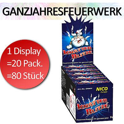 20x8 Stück Display NICO Ganzjahresfeuerwerk Knatterblitze Silvester Kracher